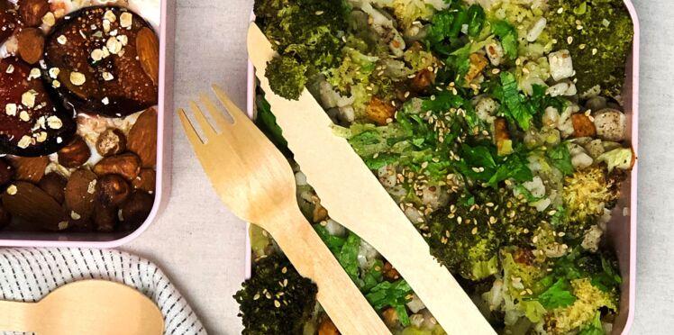 Bowl poireau, brocoli, crozet et tempeh grillé