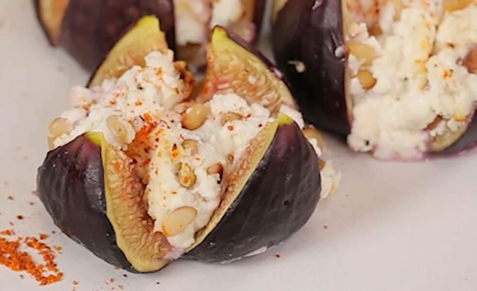 Des recettes à croquer : Figues rôties, chèvre frais et piment d'Espelette