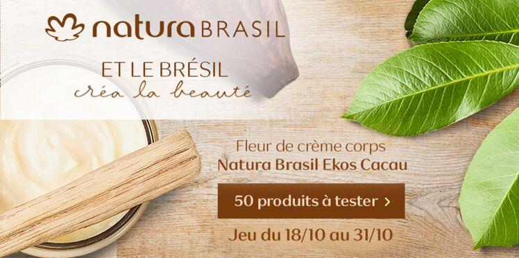 Testez la Fleur de Crème Corps Ekos Cacau de Natura Brasil