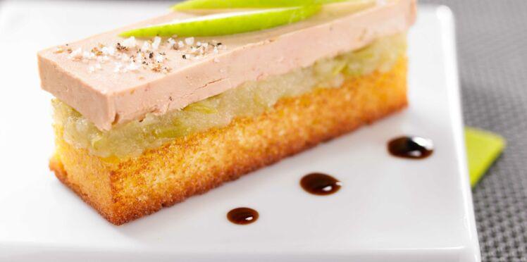 Quatre-Quarts épicé, foie gras et pomme acidulée