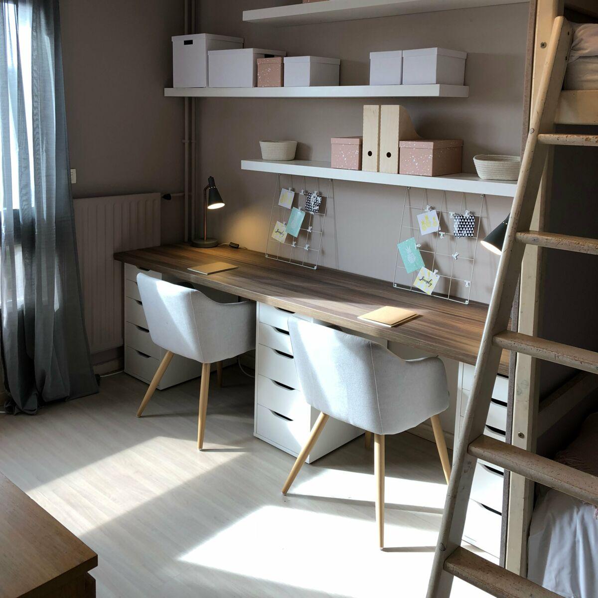 Fabriquer Un Bureau De Travail diy chambre : comment fabriquer un grand bureau : femme