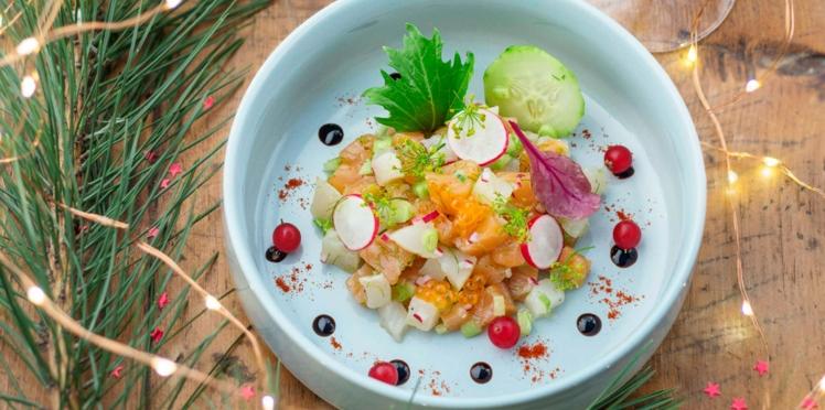 Tartare de saumon et haddock