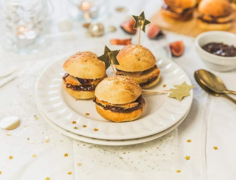 Scorpion : un burger au foie gras, piment d'Espelette et chutney de figues pour Noël