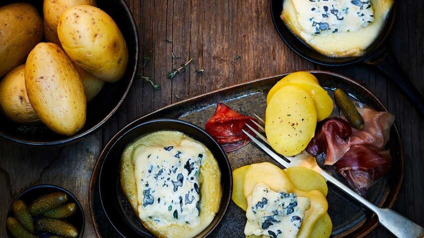Raclette au Saint Agur