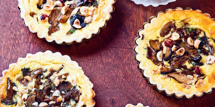 Tartelettes d'automne champignons & noisettes