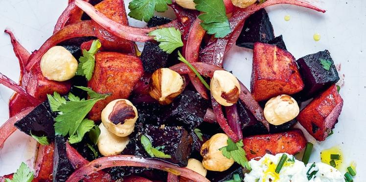 Salade d'hiver betterave & chèvre