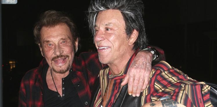 """Johnny Hallyday : ces confessions qu'il ne faisait qu'à Mickey Rourke, """"et personne d'autre"""""""