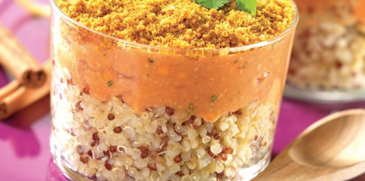 Parmentier de lentilles corail au quinoa gourmand et chapelure dorée