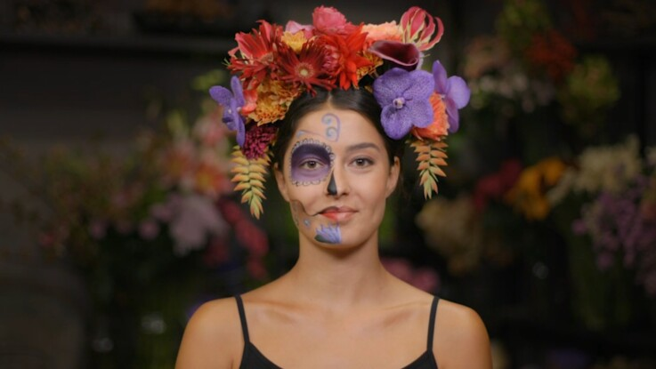 Halloween Comment Fabriquer Une Couronne De Fleurs Esprit Dia De