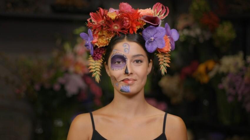"""Halloween : comment fabriquer une couronne de fleurs esprit """"Dia de los muertos"""" ?"""