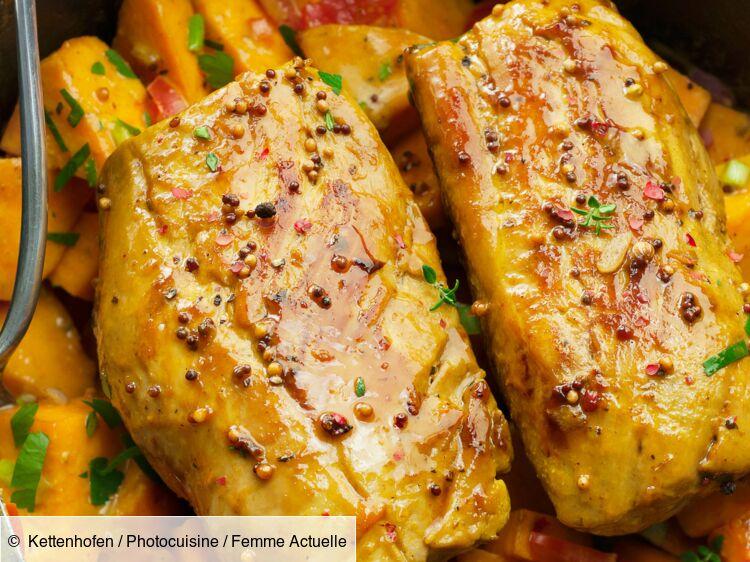 Mijotée de filet mignon au potimarron et moutarde à l'ancienne : découvrez les recettes de cuisine de Femme Actuelle Le MAG
