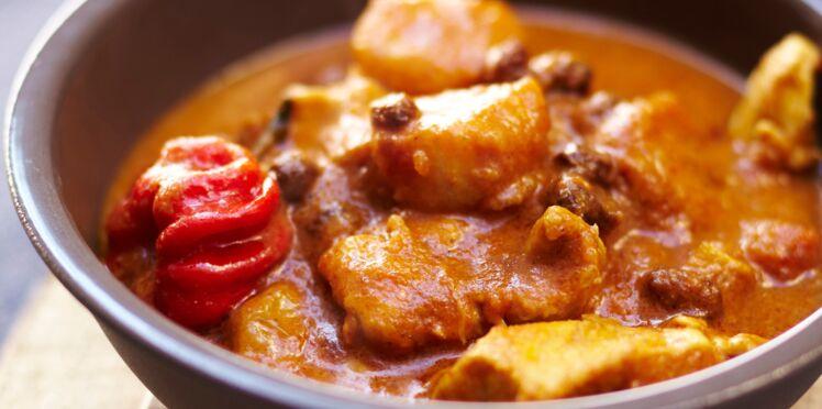 Colombo de poulet et bananes