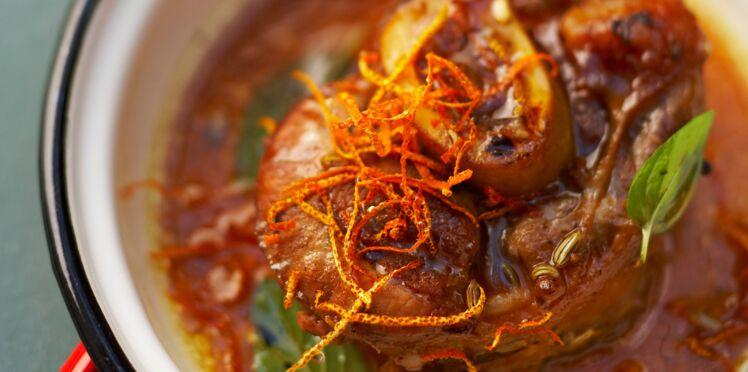 Jarret de veau à l'orange et graines de fenouil