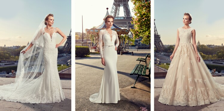 8e7f5f5972 Robes de mariée : la collection Pronuptia 2019 : Femme Actuelle Le MAG