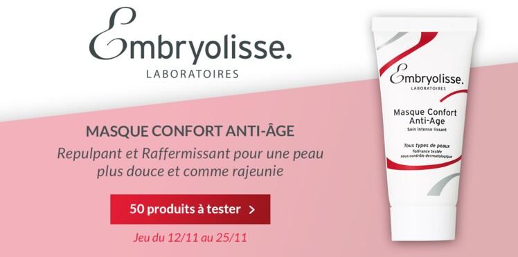 Testez le Masque Confort Anti-Âge d'Embryolisse