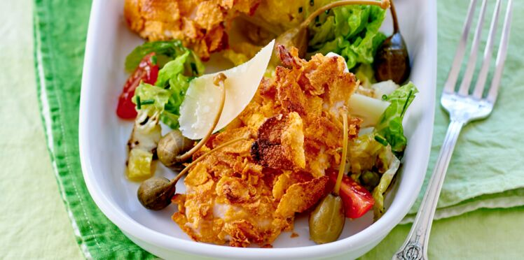 Salade au poulet croustillant et parmesan
