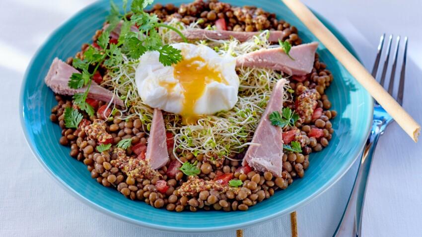 Salade parisienne aux lentilles