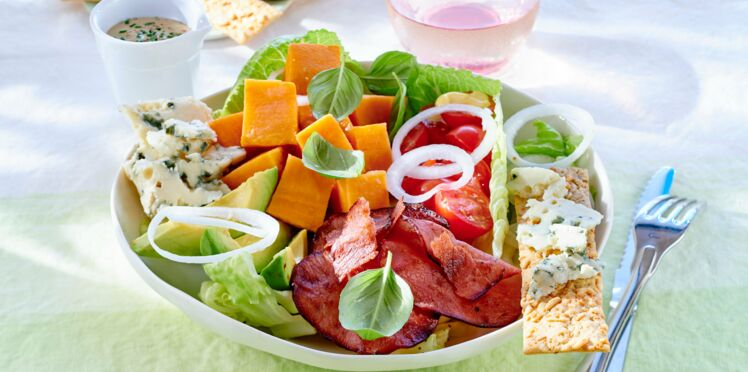 Salade bacon et patate douce