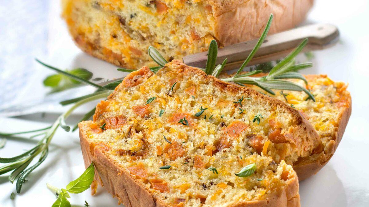 Cake de patate douce et mimolette