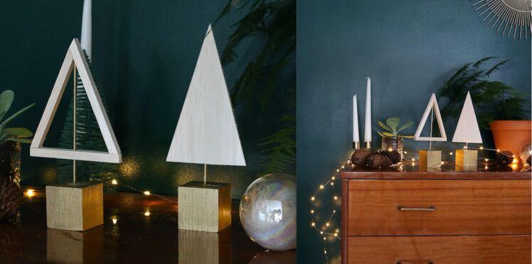 Original, le petit sapin de Noël en bois