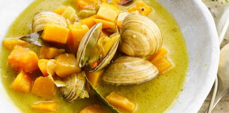 Curry de coquillages et patates douces