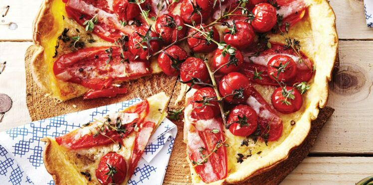 Tarte au gruyère AOP suisse et aux deux tomates