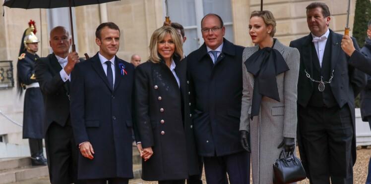 Photos - Albert et Charlène de Monaco : leurs jumeaux Jacques et Gabriella visitent l'Elysée avec Brigitte Macron (et le chien Nemo !)