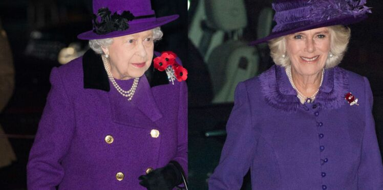 PHOTOS-Camilla Parker-Bowles ose la même tenue que la reine Elizabeth (et lui vole la vedette) !