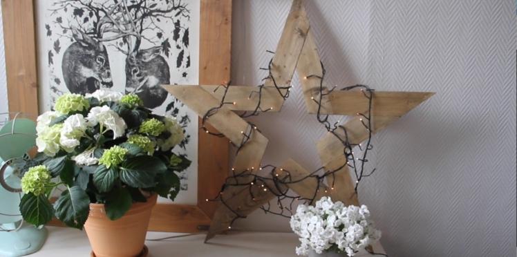 Vidéo : fabriquer une étoile de Noël en bois de palette