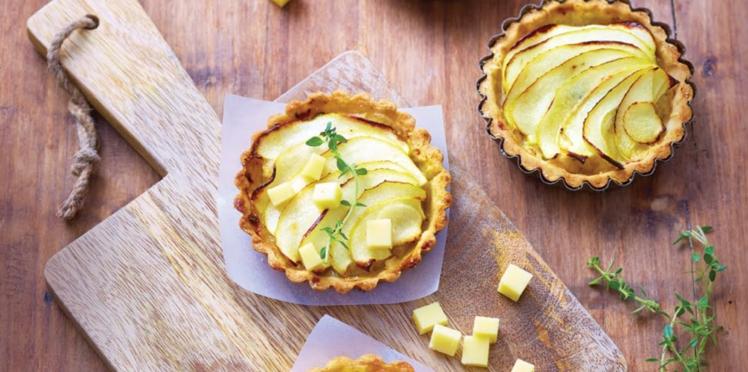 Tartelettes Poires-Pommes caramélisées et Gruyère d'Alpage AOP