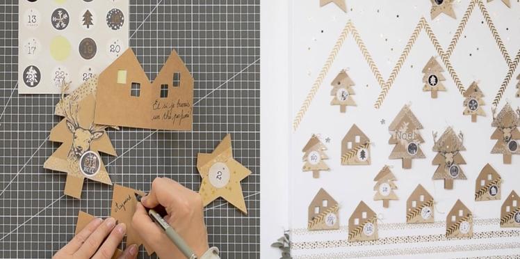 Bricolage de Noël facile : un calendrier de l'Avent à fabriquer avec du papier
