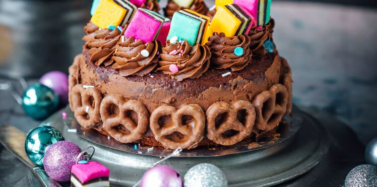Dessert de Noël original : un parfait bonbons-chocolat