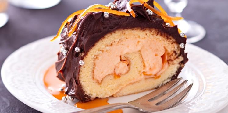Bûche à la crème d'orange et au Grand Marnier