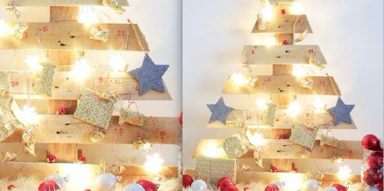 Bricolage de Noël : un Sapin - Calendrier de l'Avent en bois de palette