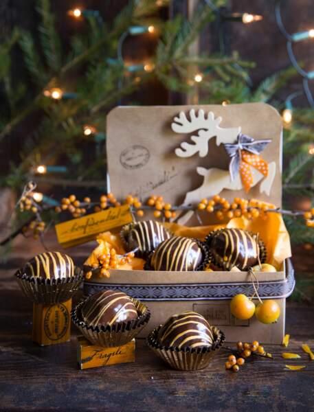 Bouchées de Noël pruneau-orange