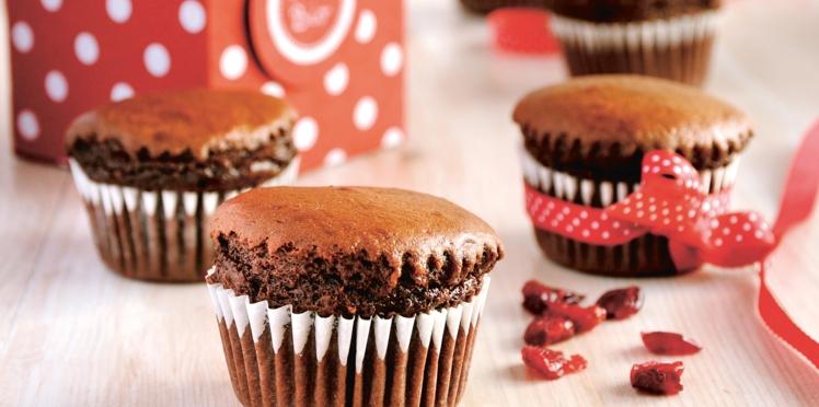 Muffins fondants au chocolat et petites baies
