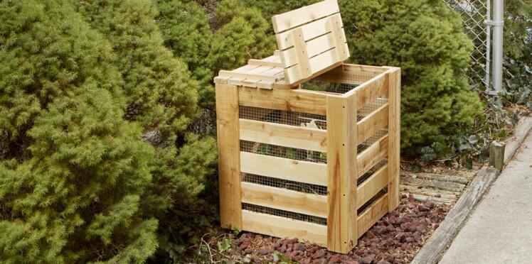 comment faire un composteur en bois avec des palettes femme actuelle le mag. Black Bedroom Furniture Sets. Home Design Ideas