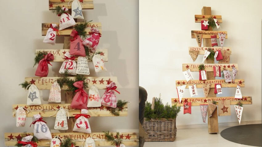 Bricolage de Noël : un sapin express en bois de palette