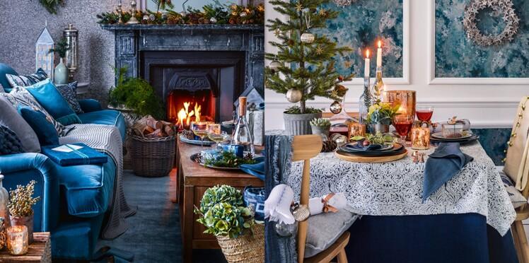 Déco de Noël : une maison en bleu pour les fêtes