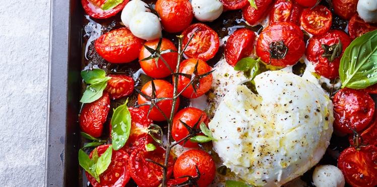 Salade de tomates rôties