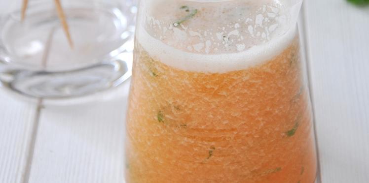 Cocktail melon-citron-menthe