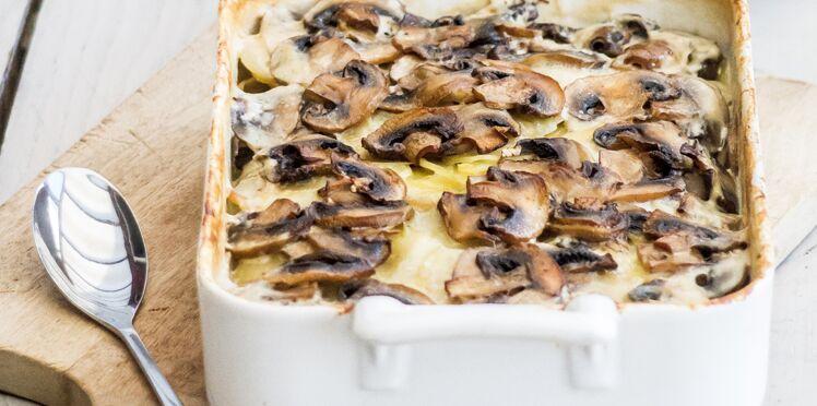 Gratin de champignons LOU et pommes de terre