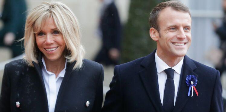Brigitte Macron embrasse tendrement Emmanuel Macron, la toile est sous le charme