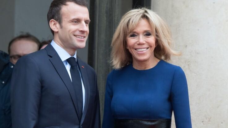 Le geste très tendre d'Emmanuel Macron envers son épouse Brigitte