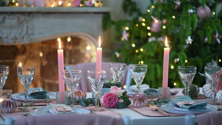 Déco de table du Nouvel an ou de Noël : adoptez le pastel