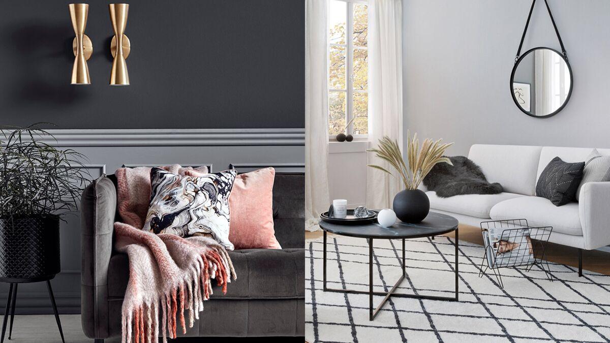 Rideau Gris Perle Ikea une déco de salon en gris et blanc : femme actuelle le mag