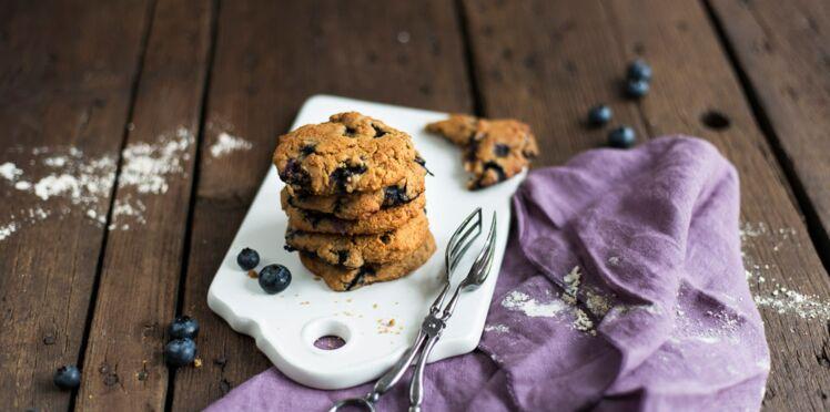 Cookies aux myrtilles sans gluten