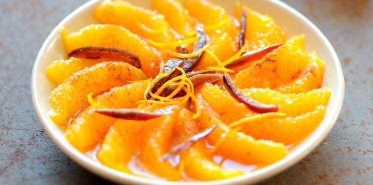 Salade d'orange et dattes à la cannelle