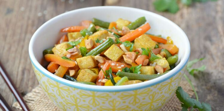 Wok de légumes croquants