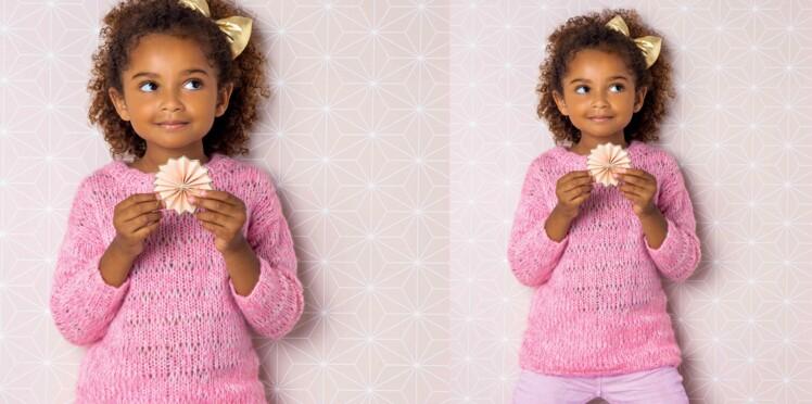 Tricot gratuit : le pull tunique enfant